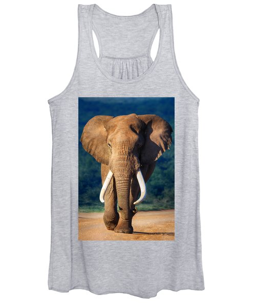 Elephant Approaching Women's Tank Top
