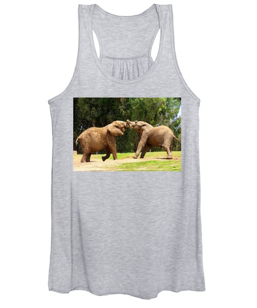 Elephants At Play 2 Women's Tank Top
