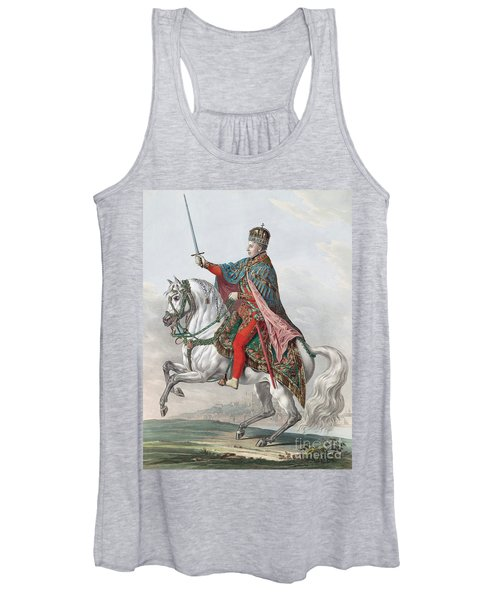 Emperor Ferdinand I Of Austria On Horseback Women's Tank Top