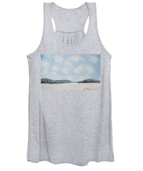 Entrance To Moulters Lagoon From Bathurst Harbour Women's Tank Top