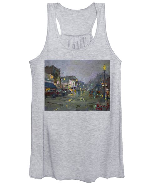 Evening Rain At Webster St Women's Tank Top