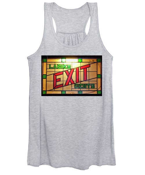 Exit - Ladies/gents Art Deco Sign Women's Tank Top