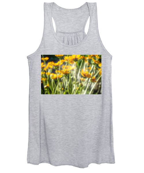 Women's Tank Top featuring the photograph Explosion Of Yellow by Michael Colgate