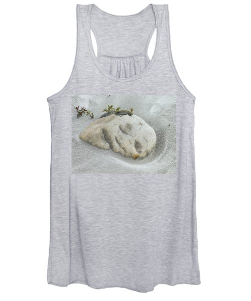 Face In The Sand At Baird Glacier Outwash Women's Tank Top