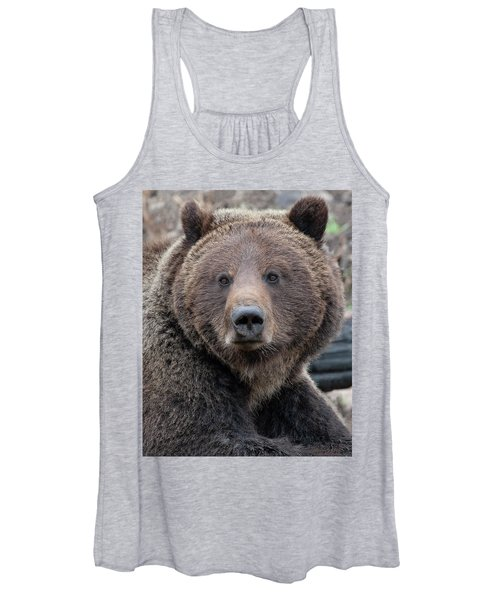 Face Of The Grizzly Women's Tank Top