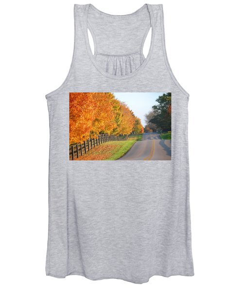 Fall In Horse Farm Country Women's Tank Top