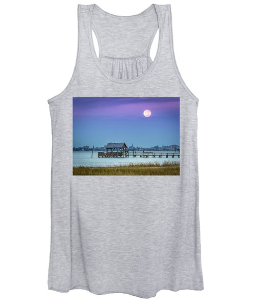 Fall Moon And King Tide - Charleston Sc Women's Tank Top