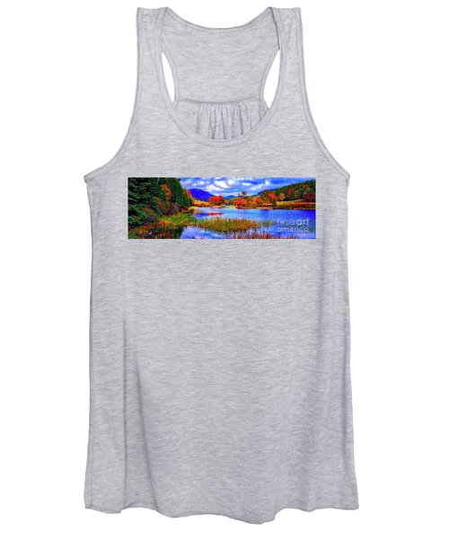 Fall On Long Pond Acadia National Park Maine  Women's Tank Top