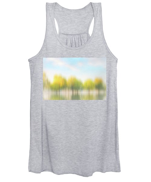 Fall Trees On Flooded Lake Women's Tank Top