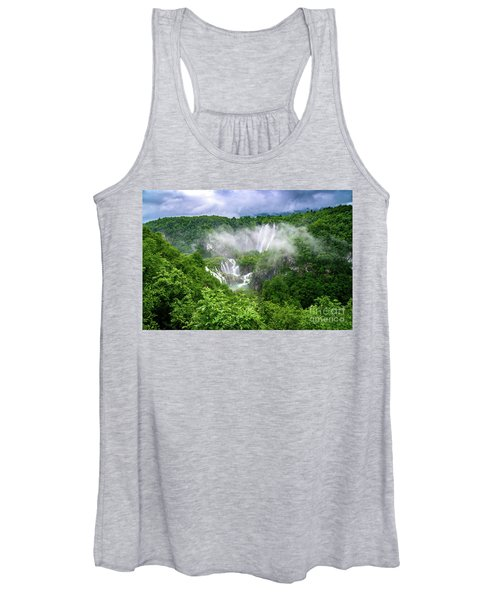 Falls Through The Fog - Plitvice Lakes National Park Croatia Women's Tank Top
