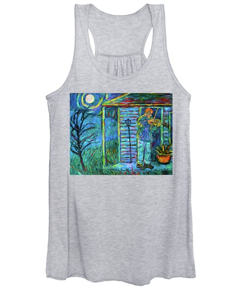 Fiddling At Midnight's Farm House Women's Tank Top