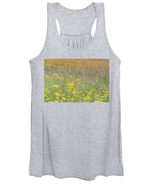 Field Of Yellow Flowers In A Sunny Spring Day Women's Tank Top