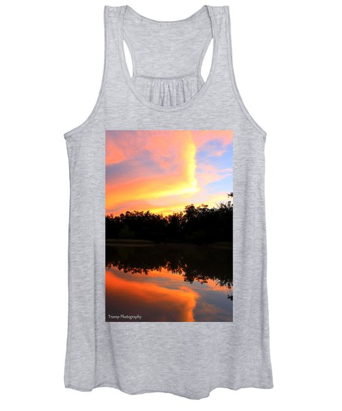 Fire On The Water Women's Tank Top
