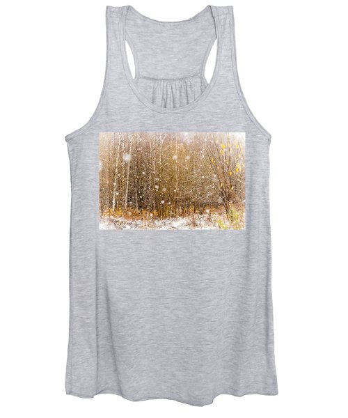 First Snow. Snow Flakes I Women's Tank Top