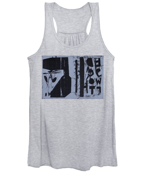 Fisher Covers Reverse White On Black Women's Tank Top