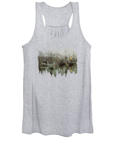 Fishing Fleet Dock Five Women's Tank Top