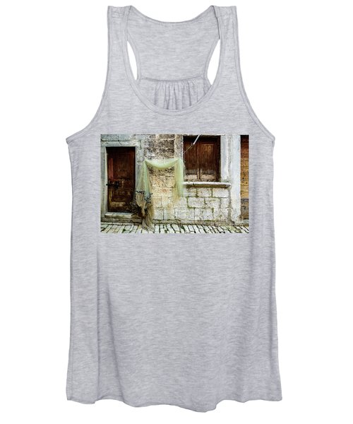 Fishing Net Hanging In The Streets Of Rovinj, Croatia Women's Tank Top