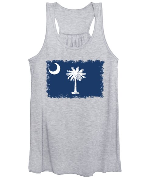 Flag Of South Carolina Authentic Version Women's Tank Top