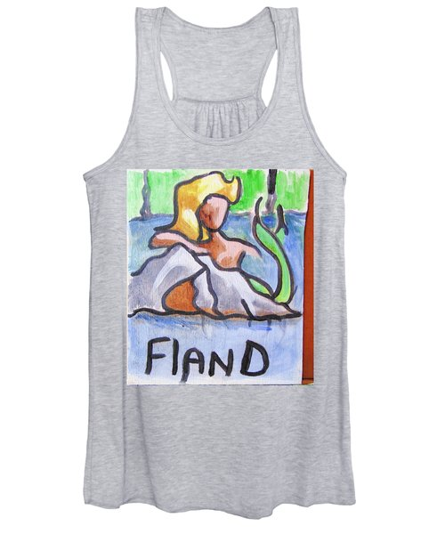 Women's Tank Top featuring the painting Fland by Loretta Nash