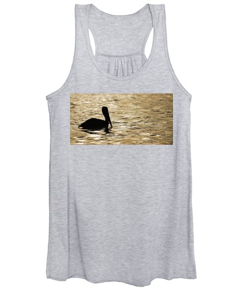 Floating In Gold Women's Tank Top