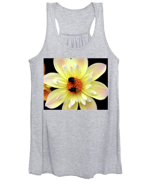 Flower And Bees Women's Tank Top