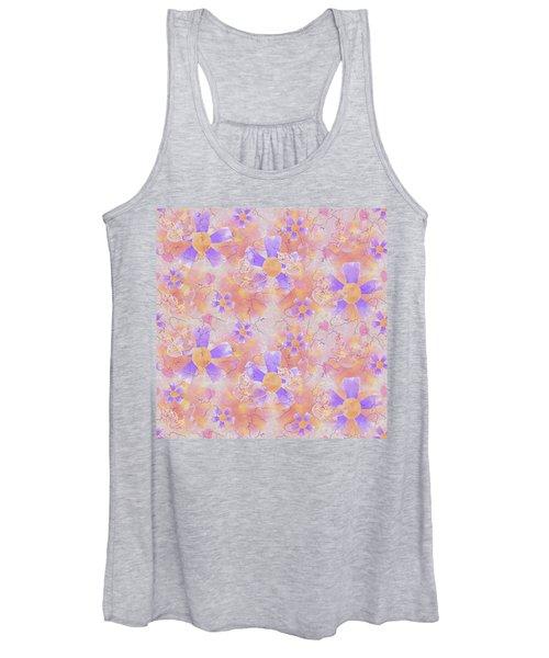 Flower Clown Pattern Women's Tank Top