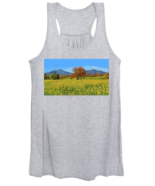 Flowering Meadow, Peaks Of Otter,  Virginia. Women's Tank Top
