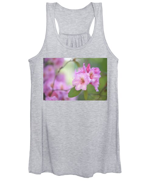 Flowers Of Pink Rhododendron Women's Tank Top