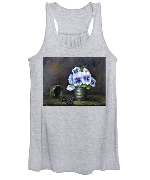 Flowers,pansies Still Life Women's Tank Top
