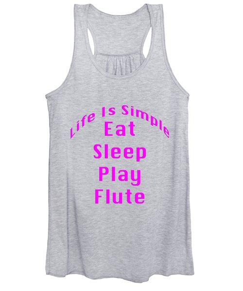 Flute Eat Sleep Play Flute 5510.02 Women's Tank Top