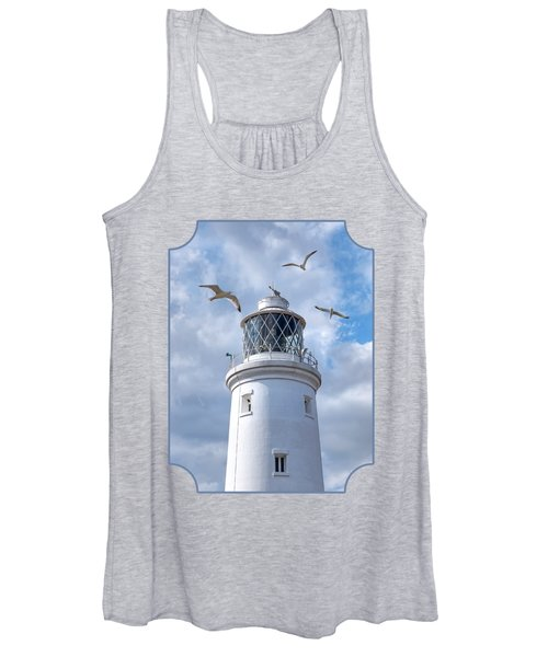 Fly Past - Seagulls Round Southwold Lighthouse Women's Tank Top