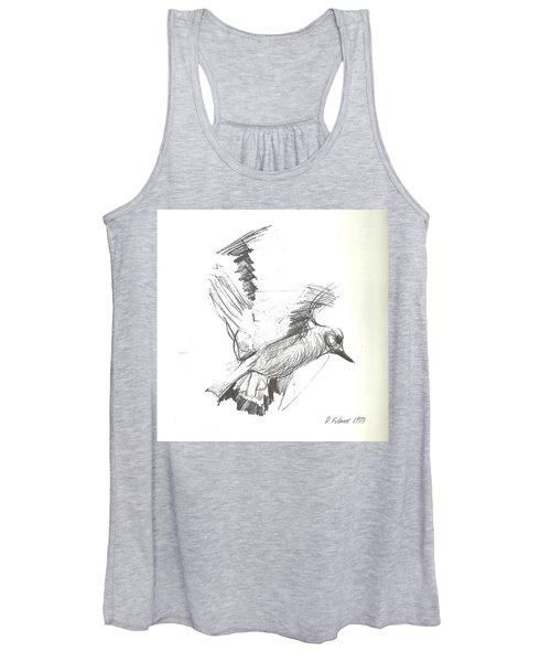 Flying Bird Sketch Women's Tank Top