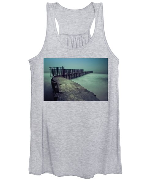 Foggy Night At Toes Beach Women's Tank Top