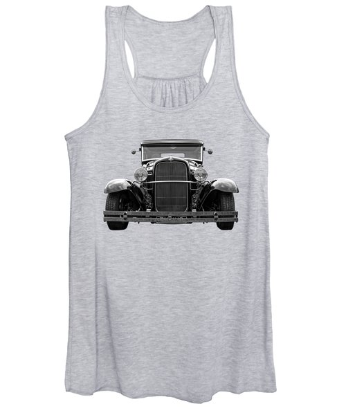 Ford Coupe Head On In Black And White Women's Tank Top