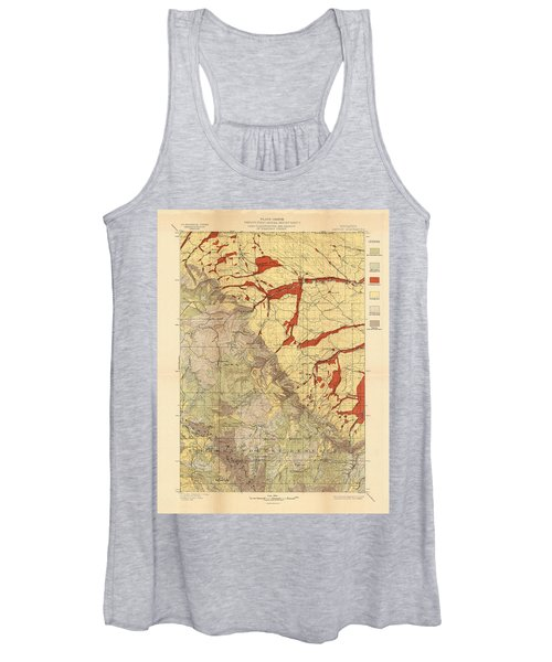 Forest Cover Map 1886-87 - Dayton Quadrangle - Wyoming - Geological Map Women's Tank Top