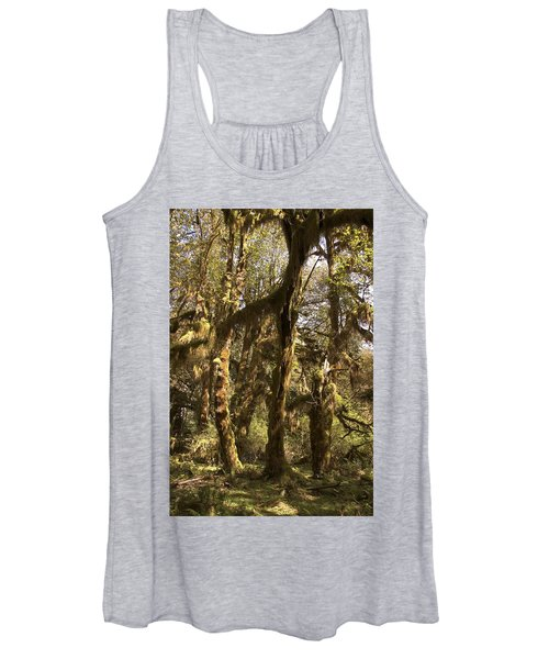Forest Setting In Hoh Rain Forest Women's Tank Top