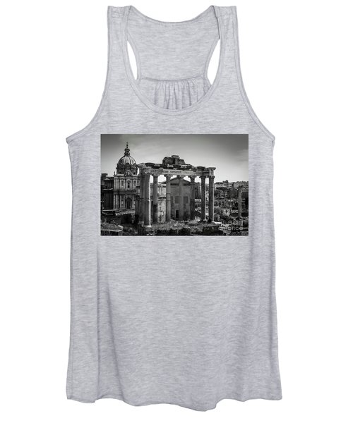 Women's Tank Top featuring the photograph Foro Romano, Rome Italy by Perry Rodriguez