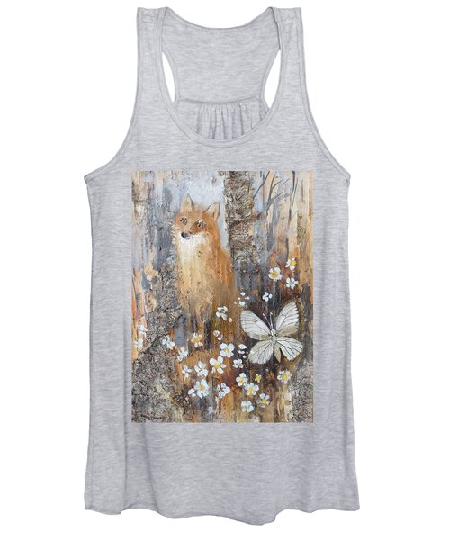 Fox And Butterfly Women's Tank Top