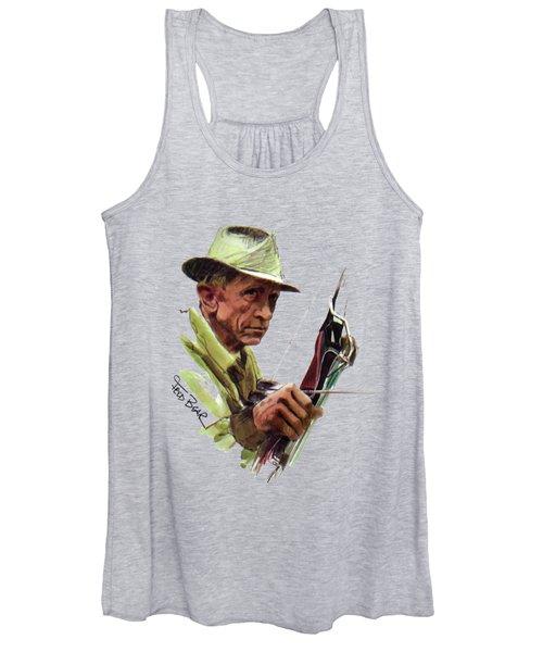 Fred Bear Archery Hunting Bow Arrow Sport Target Women's Tank Top