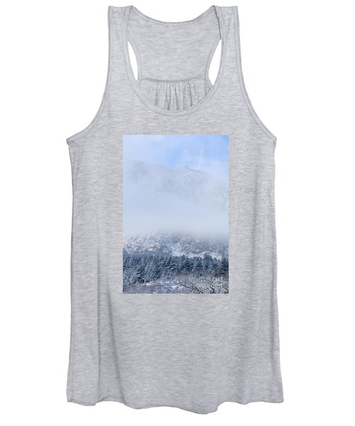 Fresh Snow In Cheyenne Mountain State Park Women's Tank Top