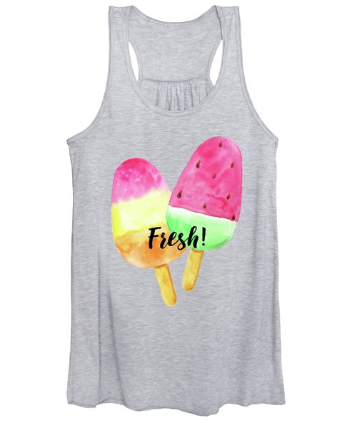 Fresh Summer Refreshing Fruit Popsicles Women's Tank Top