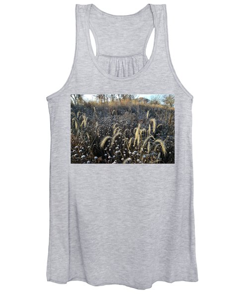 Frosted Foxtail Grasses In Glacial Park Women's Tank Top