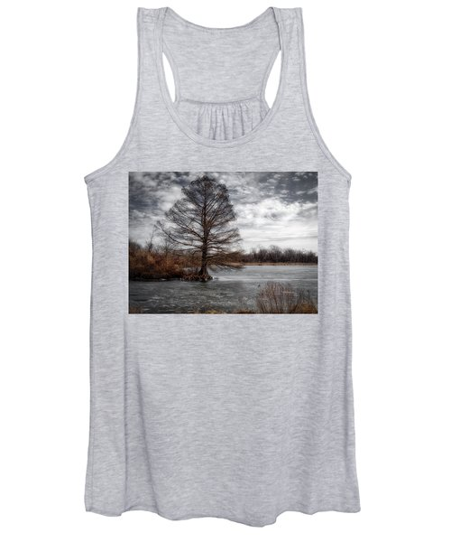 Women's Tank Top featuring the photograph Frozen Lake by Michael Colgate