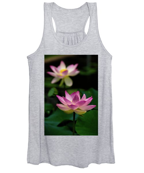 Full Blooming Dual Lotus Lilies Women's Tank Top