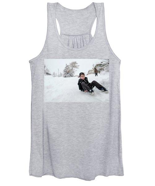 Fun On Snow-1 Women's Tank Top