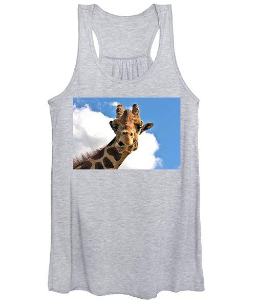 Funny Face Giraffe Women's Tank Top