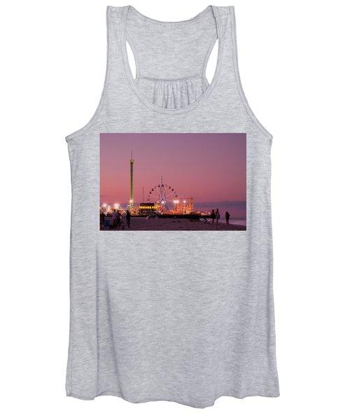 Funtown Pier At Sunset IIi - Jersey Shore Women's Tank Top