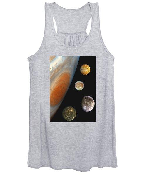 Galilean Moons Of Jupiter Women's Tank Top