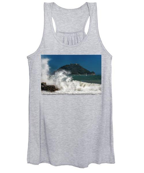 Gallinara Island Seastorm - Mareggiata All'isola Gallinara Women's Tank Top