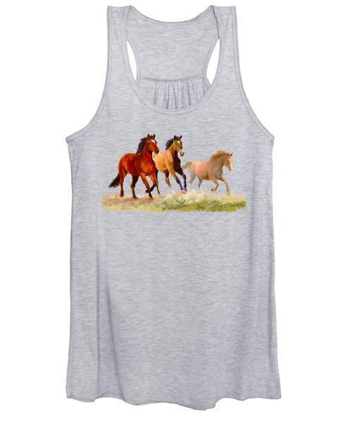 Galloping Horses Women's Tank Top